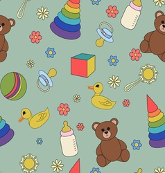 Children seamless pattern vector