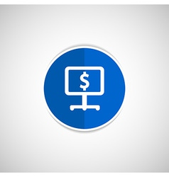 Dollar blue glossy icon on white background vector