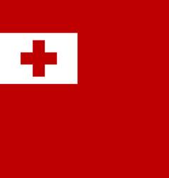 Flag tonga islands flat style vector