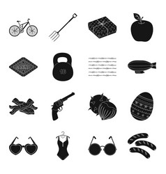Food game sports transportation and other web vector