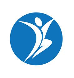 happy human character logo vector image