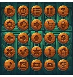 Jungle shamans GUI set buttons vector image