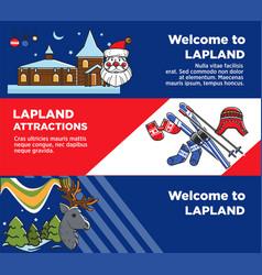lapland tourist travel and famous tourist culture vector image vector image