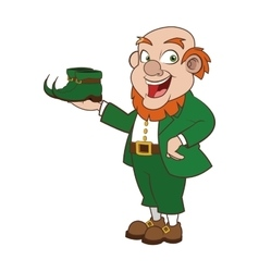 Leprechaun character with boots icon vector
