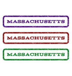 Massachusetts watermark stamp vector