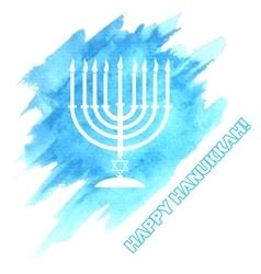 Menora For Hanukkah Celebration vector image vector image
