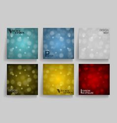 Pack of 6 in 1 blurred abstract backgrounds use vector