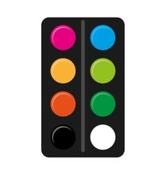 Pallette colors school supply icon vector
