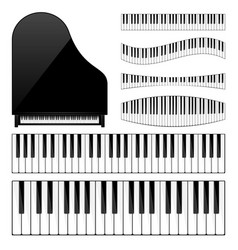 piano with keyboardkey musical background vector image