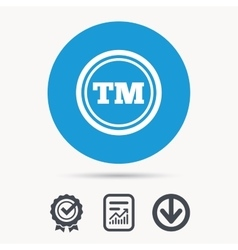 Registered TM trademark icon Intellectual work vector image vector image