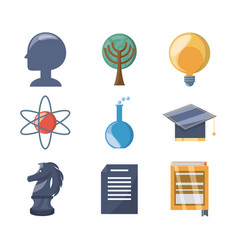 set knowledge education to learn idea vector image
