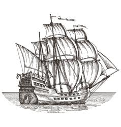ship logo design template sailboat or vector image vector image