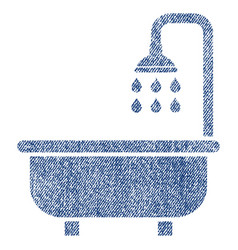 shower bath fabric textured icon vector image