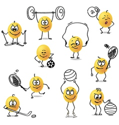 Smiley sports vector