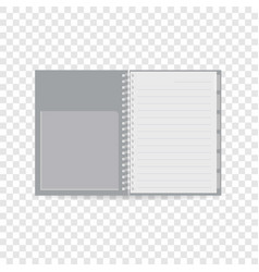 Spiral notebook icon realistic style vector