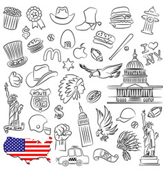 Symbols of usa vector