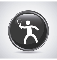 Tennis player icon Sport design graphic vector image