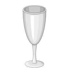 Wineglass icon cartoon style vector