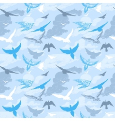 Birds flying in the sky seamless pattern vector