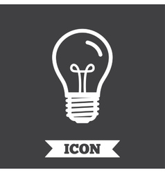 Light bulb icon lamp e27 screw socket symbol vector