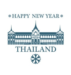 Greeting card thailand vector