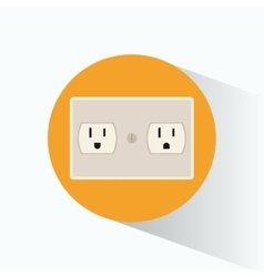 Plug energy electrical circle shadow vector