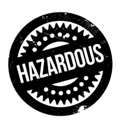 Hazardous rubber stamp vector