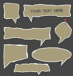 Torn paper speech bubbles vector image