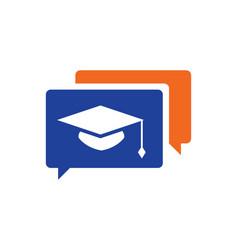 Graduation hat education logo vector