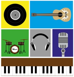The music icon vector