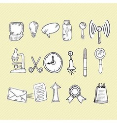 Web icons hand draw vector