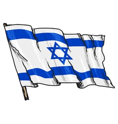 Flag of israel vector