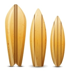 Wooden surf boards vector