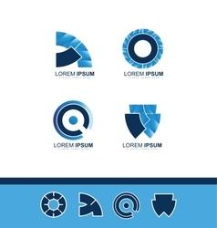 Abstract blue company logo icon vector image vector image
