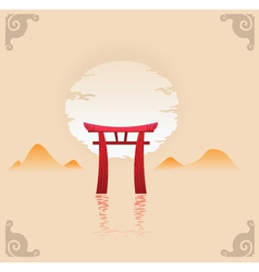 abstract japan background vector image vector image
