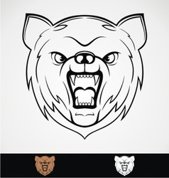 Angry Bear Head vector image vector image