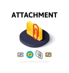 Attachment icon in different style vector