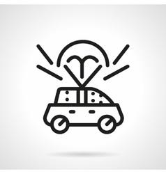 Auto insurance black line design icon vector