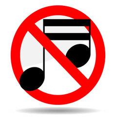 Ban sound vector image
