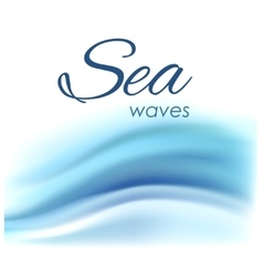 Beautiful blue background of stylized waves vector image