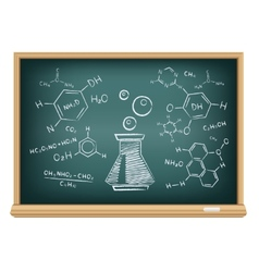 board chemistry vector image vector image