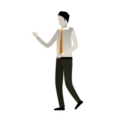 businessman faceless in shirt with tie and white vector image