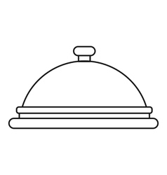 Cloche icon outline style vector