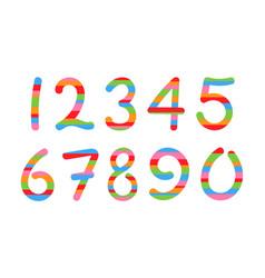 Colored arabic numerals set 1-10 vector