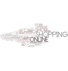 E-shop word cloud concept vector