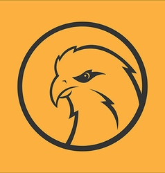 Eagle hawk falcon logo sport mascot predator bird vector