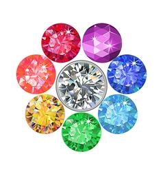 Gemstone brooch vector image vector image