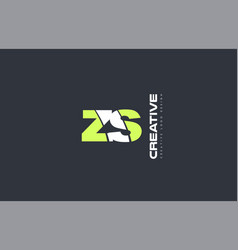 green letter zs z s combination logo icon company vector image vector image