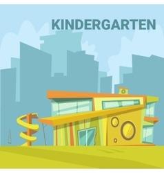 Kindergarten Cartoon Background vector image vector image