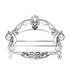 Royal sofa with classic ornaments vector